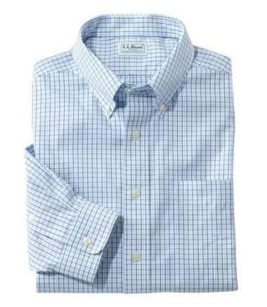 Wrinkle-Free Pinpoint Oxford Cloth Shirt, Traditional Fit Tattersall