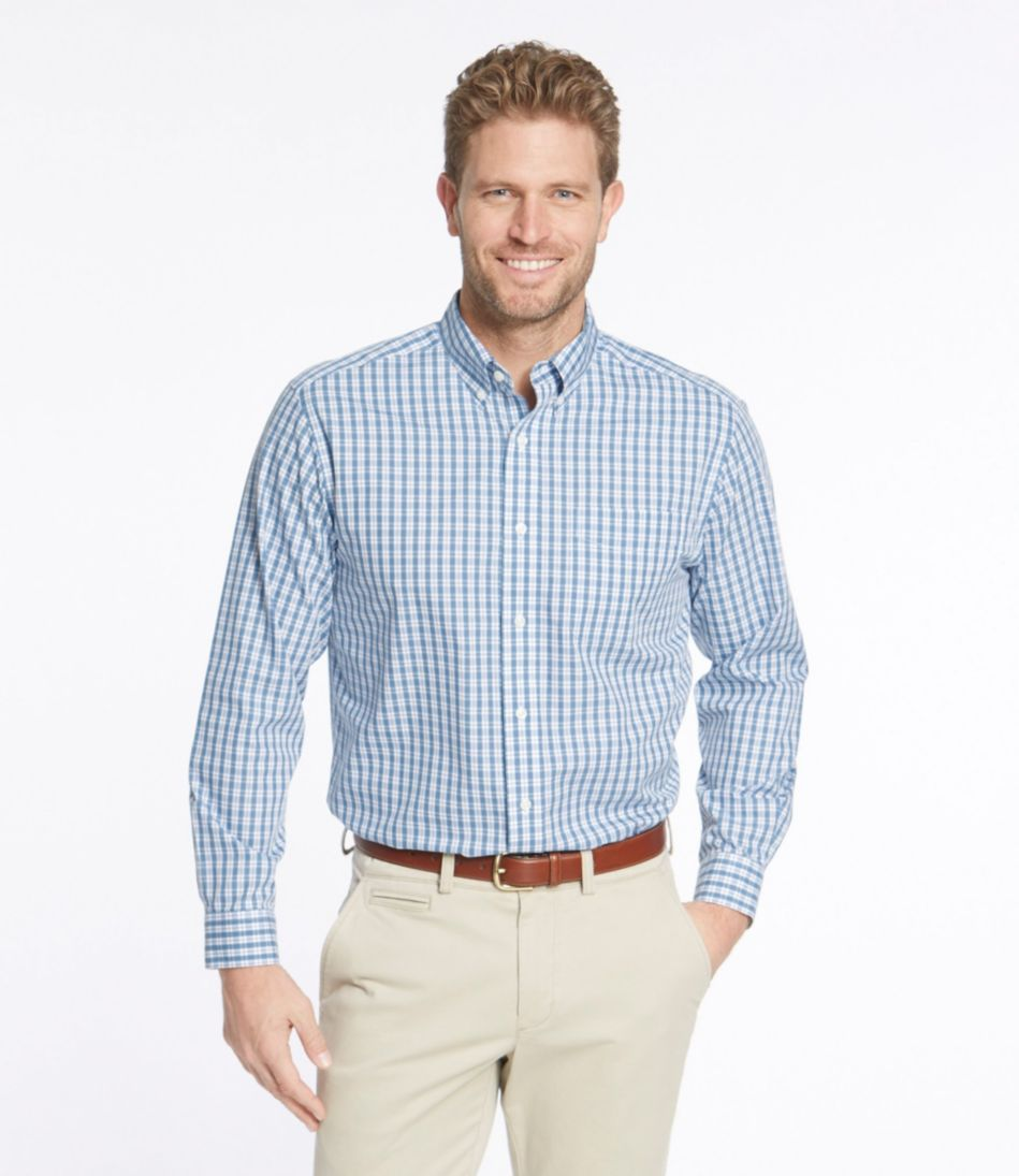 Wrinkle-Free Vacationland Shirt, Traditional Fit Long-Sleeve Plaid