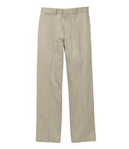 Men's Wrinkle-Free Dress Chinos, Classic Fit Plain Front