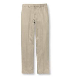 Men's Wrinkle-Free Dress Chinos, Natural Fit Plain Front