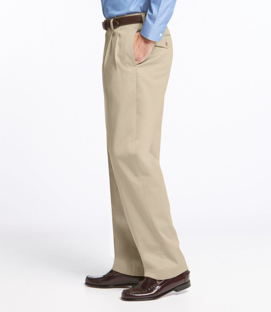 Wrinkle-Free Dress Chinos, Natural Fit Pleated