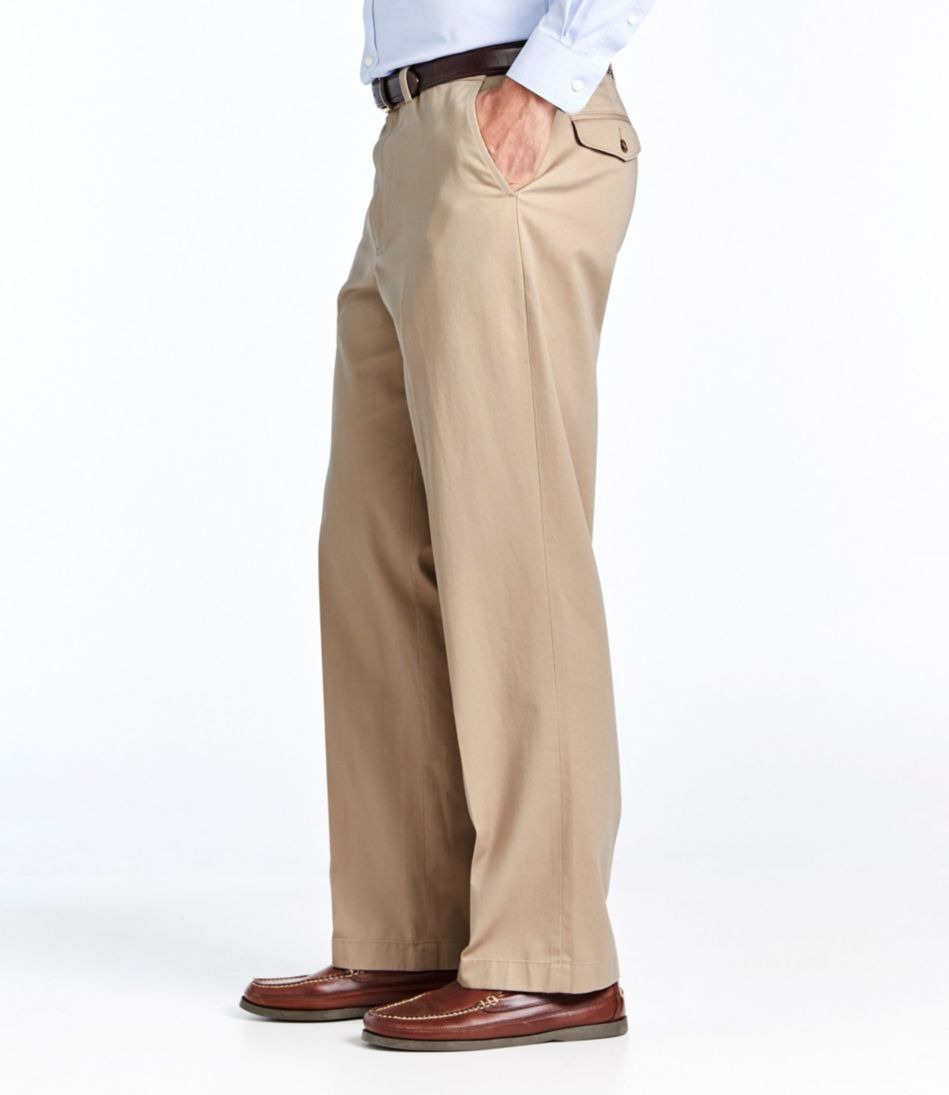 Wrinkle-Free Dress Chinos, Natural Fit Hidden Comfort Plain Front