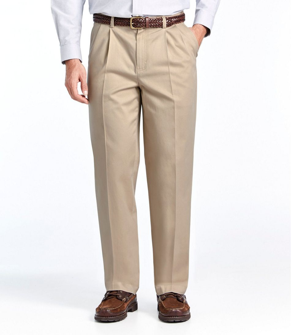 wide varieties picked up 100% top quality Men's Wrinkle-Free Dress Chinos, Natural Fit Hidden Comfort Pleated