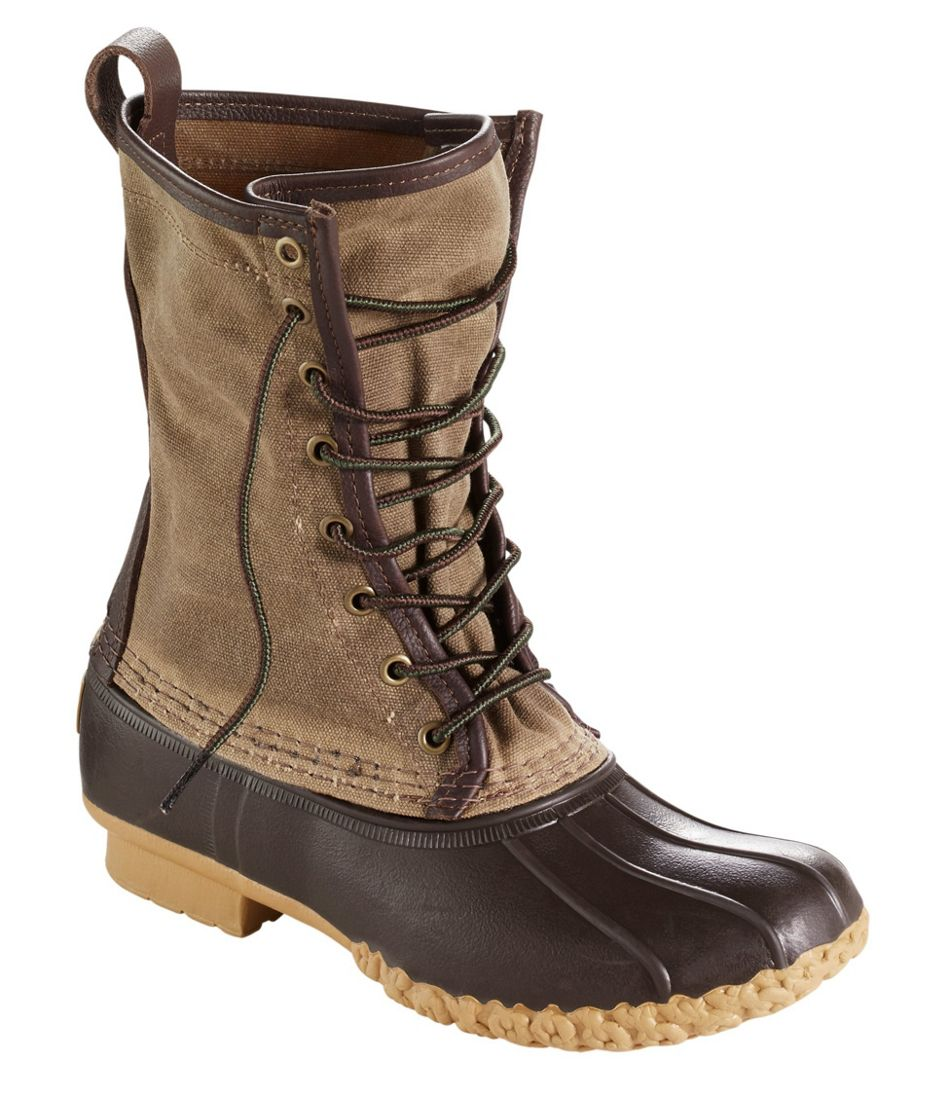"""Men's Waxed-Canvas Maine Hunting Shoes, 10"""""""