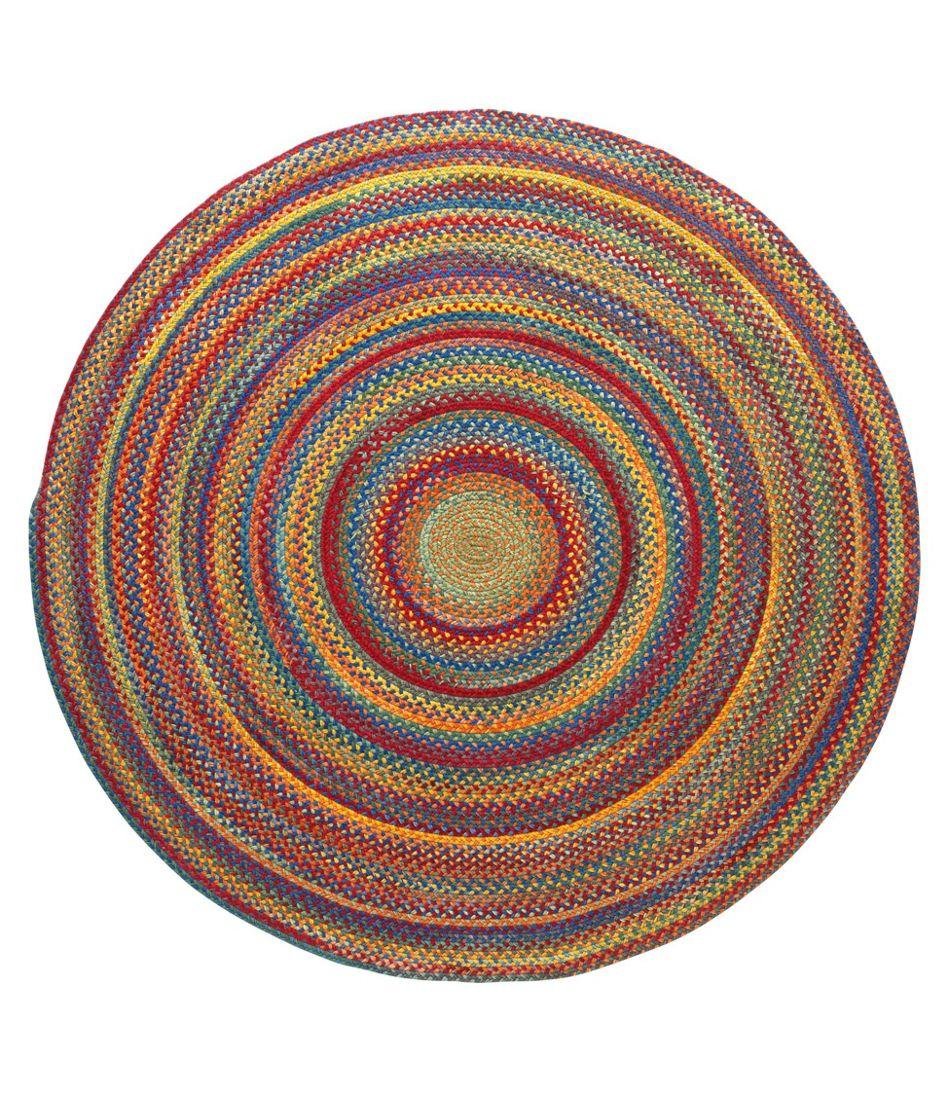L.L.Bean Braided Wool Rug, 6' Diam.