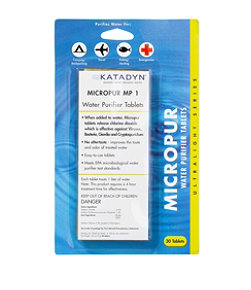 Katadyn Micropur Water Purification Tablets, 30-Pack