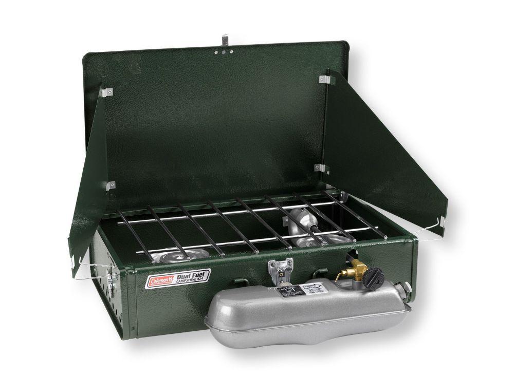 photo: Coleman Dual Fuel 2-Burner Stove liquid fuel stove