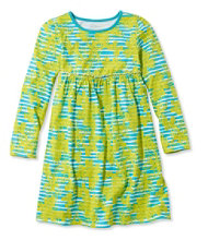Girls' Unshrinkable Knit Dress, Long-Sleeve