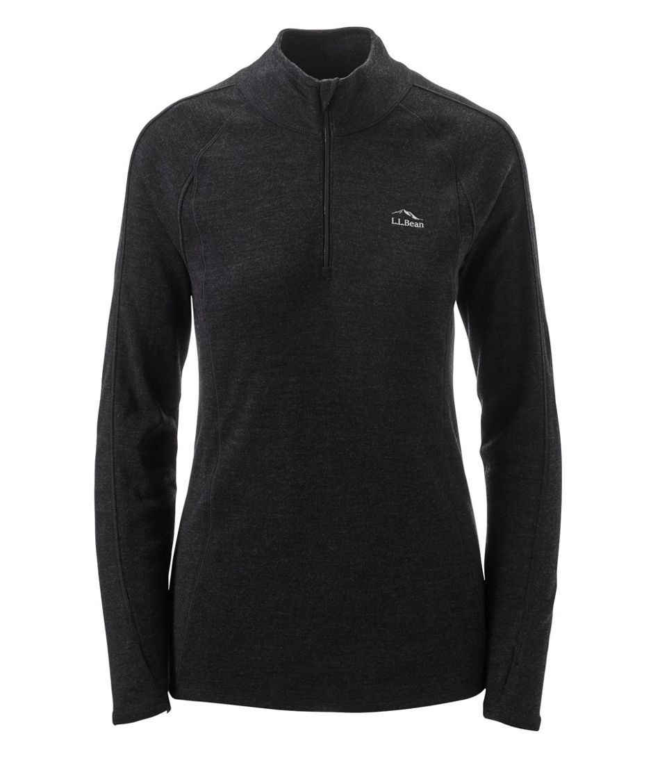 Women's Cresta Wool Midweight 250 Base Layer, Quarter-Zip