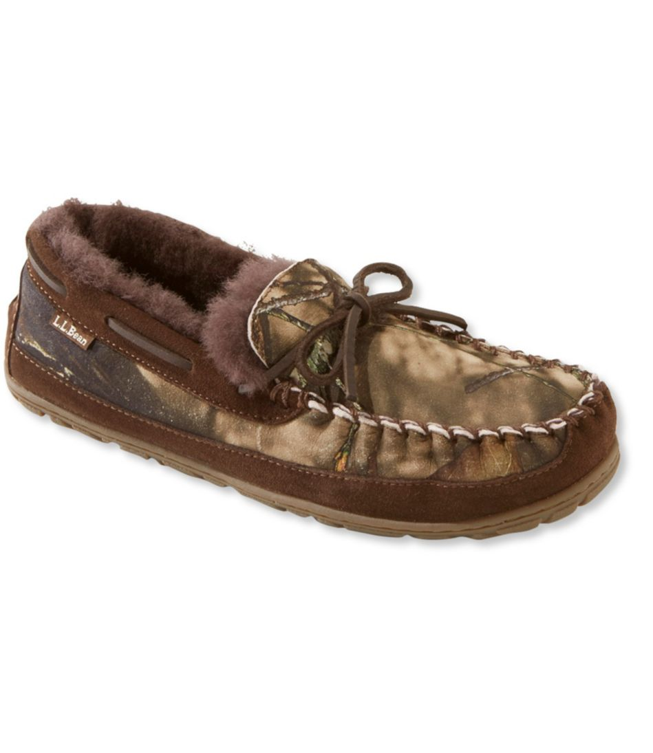 Men's Wicked Good Moccasins, Camo Print