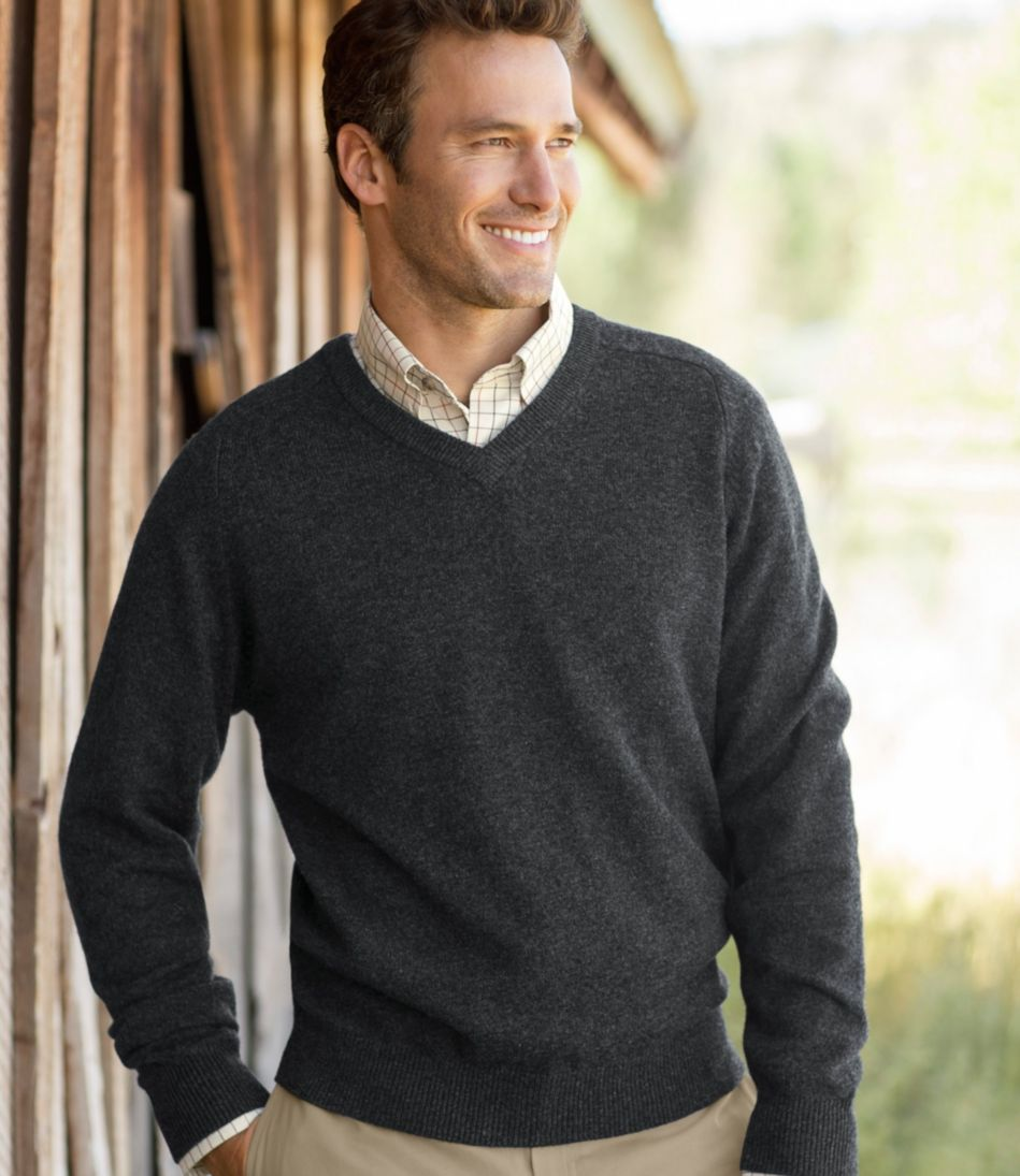 L.L.Bean Lambswool V-Neck Sweater