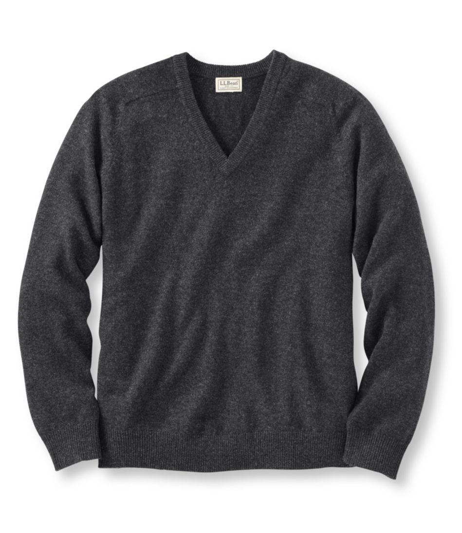 L.L.Bean Lambswool V-Neck Sweater