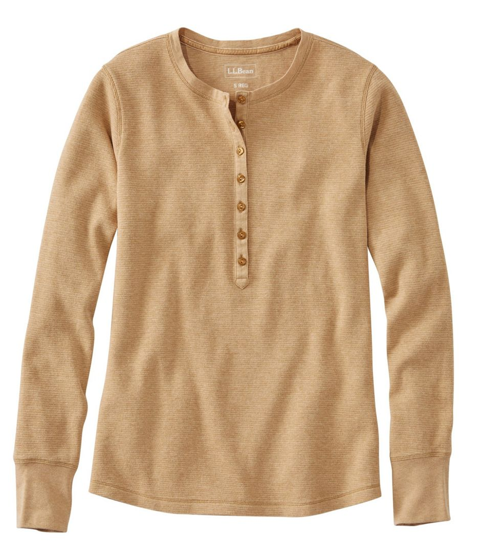 Waffle-Knit Henley