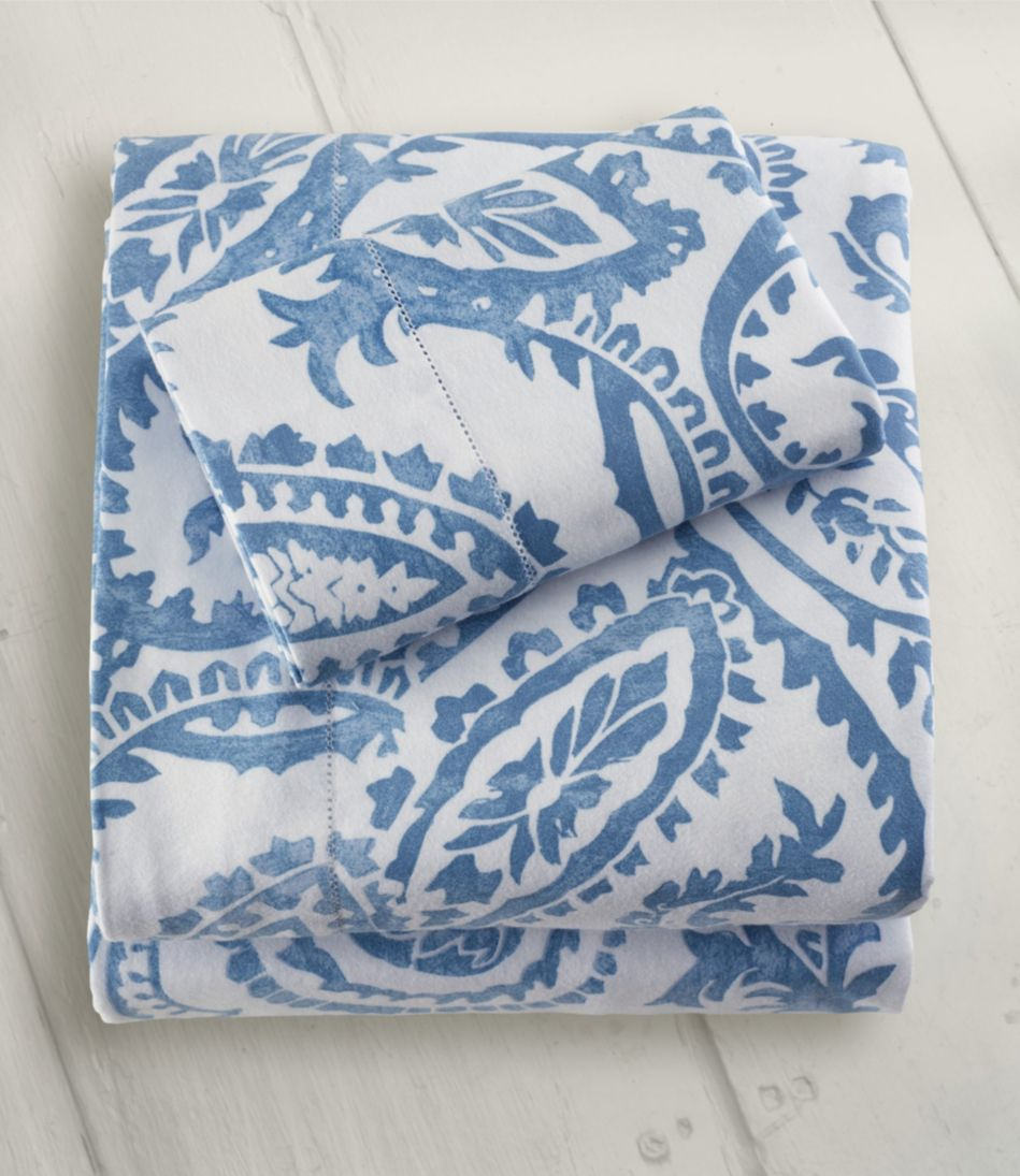 Premium Supima Flannel Sheet, Fitted Floral