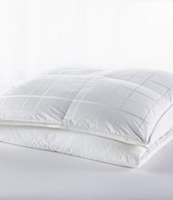 Sateen White Goose Down Comforter, Warmer