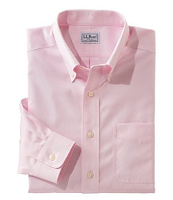 Wrinkle-Free Pinpoint Oxford Cloth Shirt, Slightly Fitted