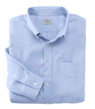 Men's Wrinkle-Free Pinpoint Oxford Cloth Shirt, Slightly Fitted