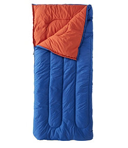 Camp Sleeping Bag, Kids' Cotton-Blend-Lined 40°