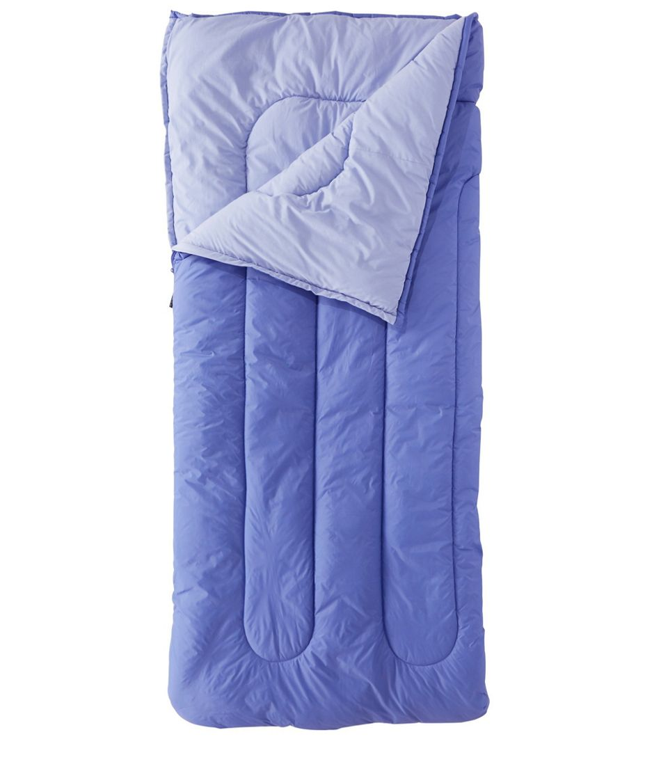 Adults' Camp Sleeping Bag, Cotton-Blend-Lined 40°