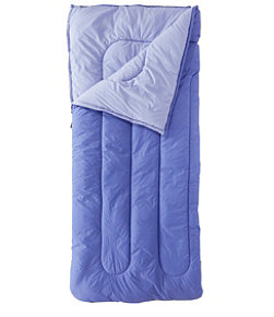 Adults' Camp Sleeping Bag, Cotton-Blend-Lined Regular 40°