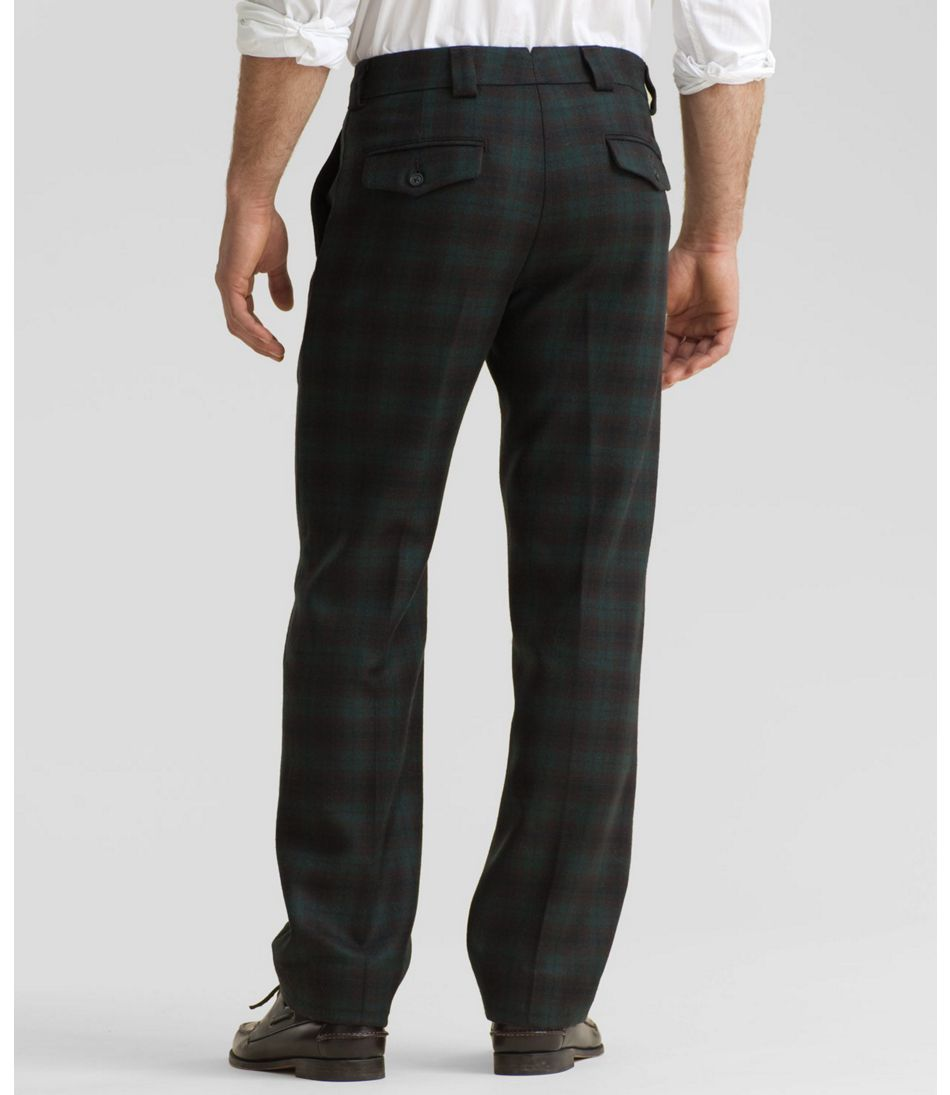 Men's Signature Wool Slacks, Tartan