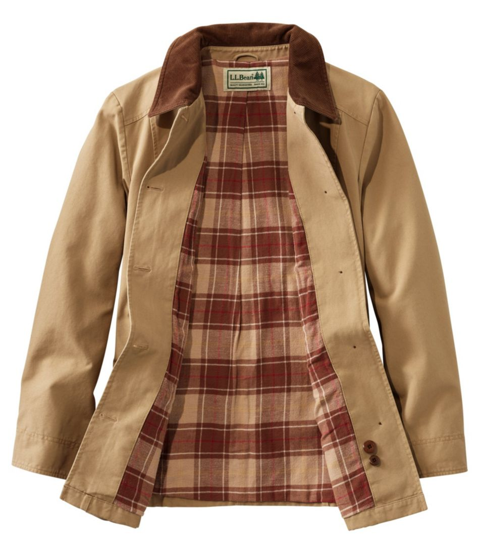 Adirondack Barn Coat, Flannel-Lined