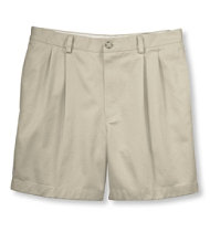 "Wrinkle-Free Double L Chino Shorts, Classic Fit Pleated 6"" Inseam"