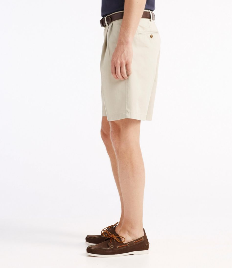 "Double L® Chino Shorts, Classic Fit Pleated 8"" Inseam"
