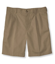 "Double L Chino Shorts, Classic Fit Pleated 8"" Inseam"