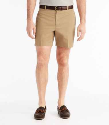 Men's Wrinkle-Free Double L® Chino Shorts, Classic Fit Plain Front 6'' Inseam