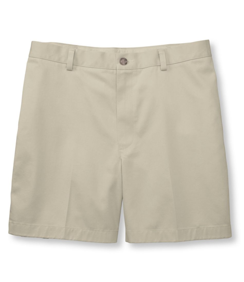 Wrinkle-Free Double L® Chino Shorts, Classic Fit Plain Front 6'' Inseam