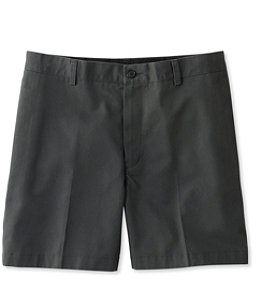 Men's Wrinkle-Free Double L Chino Shorts, Classic Fit Plain Front 6''