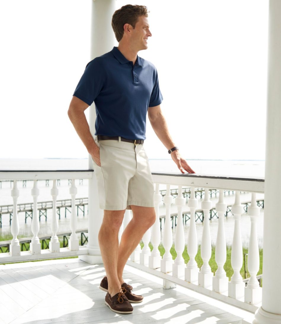 "Double L® Chino Shorts, Classic Fit Plain Front 8"" Inseam"