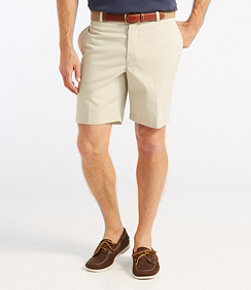"Double L Chino Shorts, Classic Fit Plain Front 8"" Inseam"