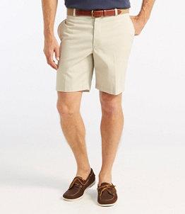 "Men's Double L Chino Shorts, Classic Fit Plain Front 8"" Inseam"