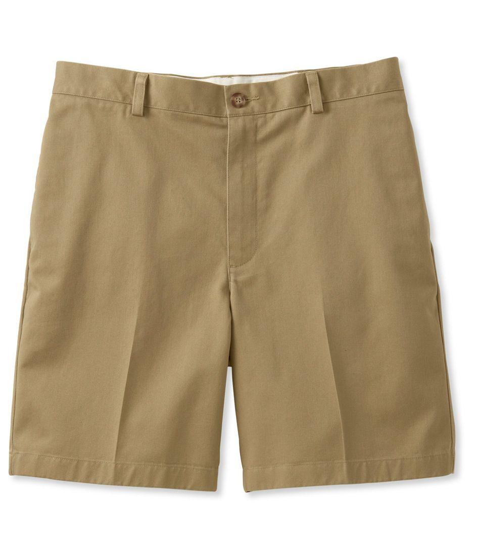 "Men's Double L® Chino Shorts, Classic Fit Plain Front 8"" Inseam"