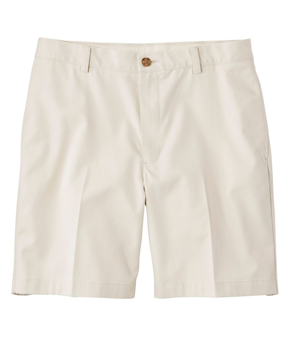 "Men's Double L® Chino Shorts, Classic Fit Plain Front 8"" Inseam"
