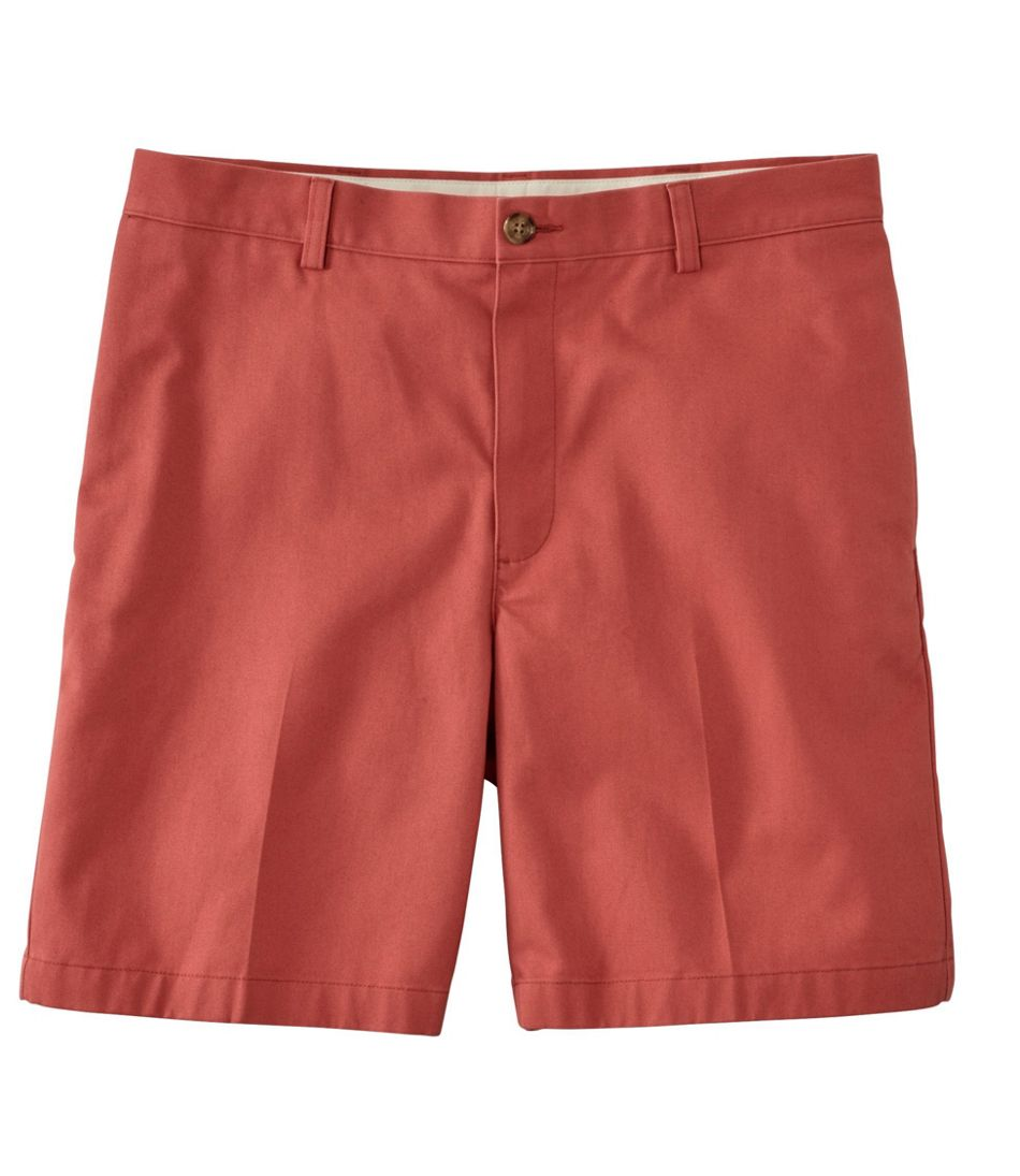 """Double L® Chino Shorts, Classic Fit Plain Front 8"""" Inseam"""
