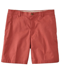 "Men's Double L Chino Shorts, Classic Fit Plain Front 8"" Inseam"