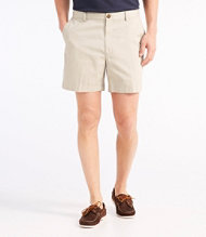 "Wrinkle-Free Double L Chino Shorts, Hidden Comfort Waist Plain Front 6"" Inseam"