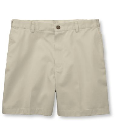 "Double L® Chino Shorts, Hidden Comfort Waist Plain Front 6"" Inseam"