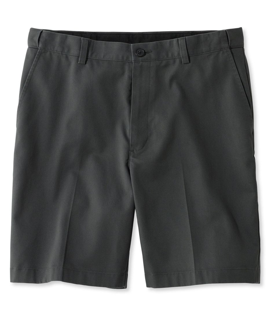 "Wrinkle-Free Double L® Chino Shorts, Hidden Comfort Waist Plain Front 8"" Inseam"