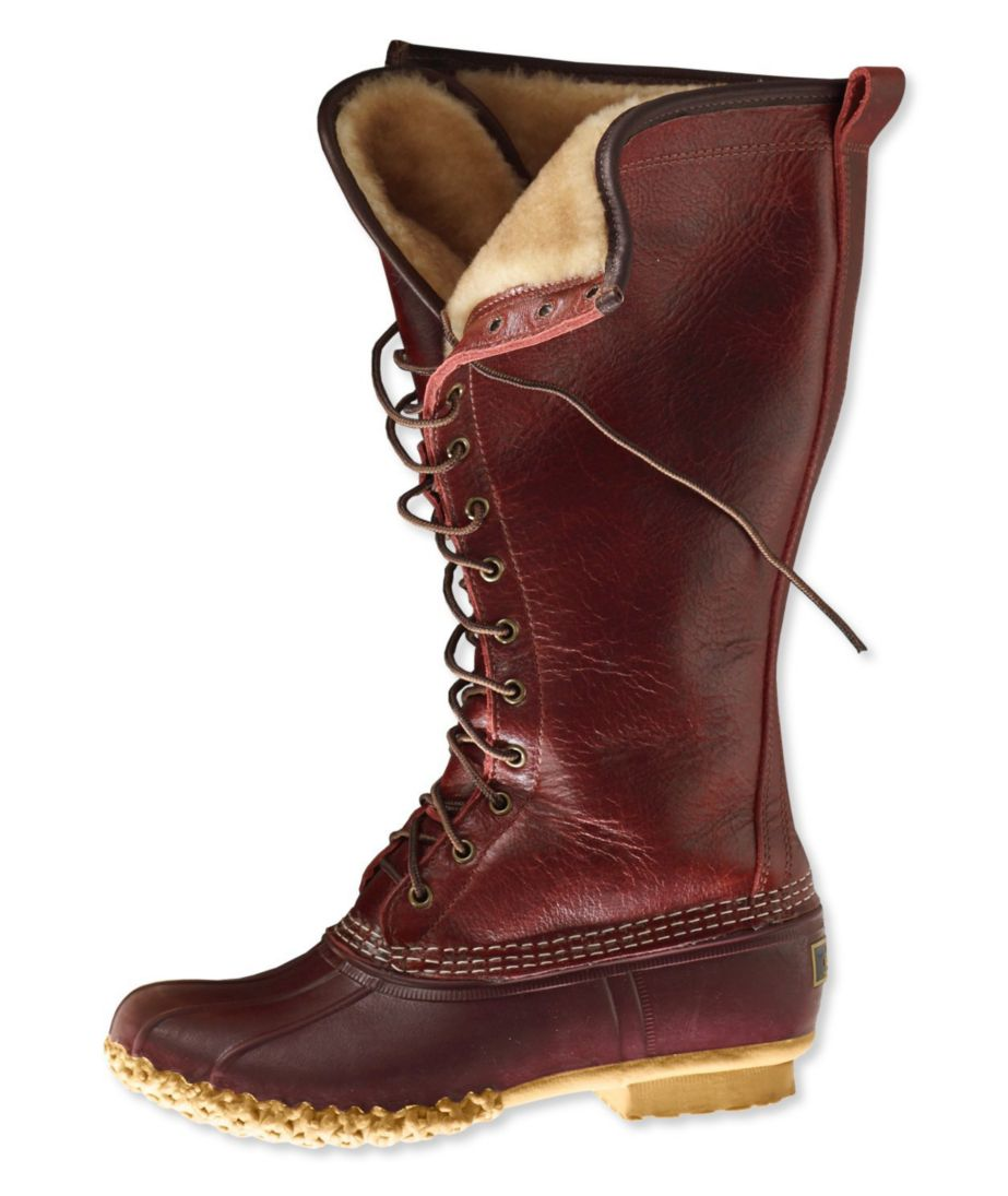 Signature Women's L.L.Bean Boot, Shearling-Lined