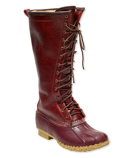 signature s l l bean boot shearling lined