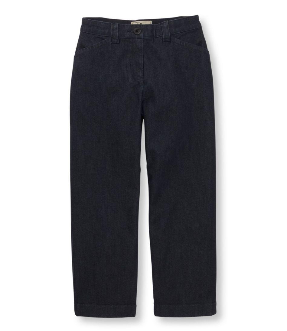 Easy-Stretch Pants, Cropped Denim