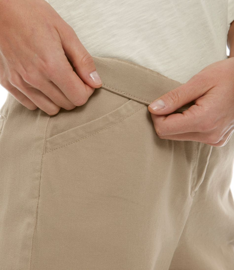 Easy-Stretch Pants, Twill Cropped