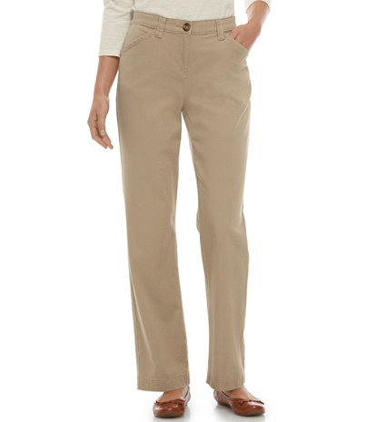 Women's Easy-Stretch Pants, Twill   Free Shipping at L.L.Bean
