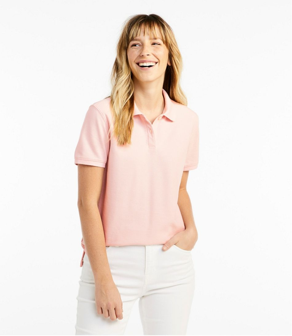 Womens Premium Double L Polo Relaxed Fit