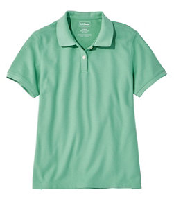 Women's Premium Double L Polo, Relaxed Fit