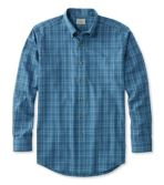 Wrinkle-Free Twill Sport Shirt, Traditional Fit Windowpane